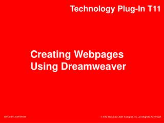 Creating Webpages Using Dreamweaver