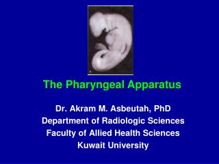 Dr. Akram M. Asbeutah, PhD Department of Radiologic Sciences Faculty of Allied Health Sciences Kuwait University