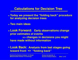Calculations for Decision Tree