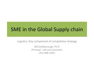SME in the Global Supply chain
