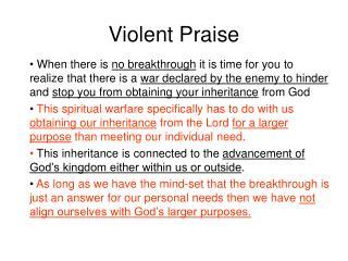 Violent Praise