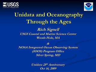 Unidata  and Oceanography Through the Ages