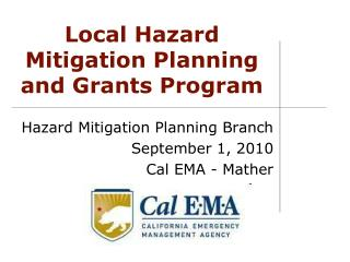 Local Hazard Mitigation Planning and Grants Program