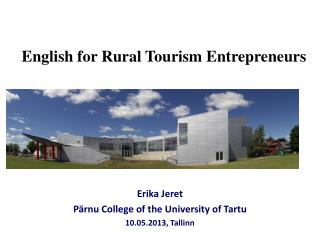 English for Rural Tourism Entrepreneurs