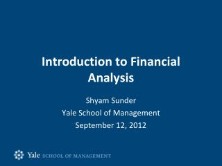 Introduction to Financial Analysis