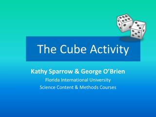 The Cube Activity
