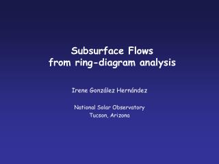 Subsurface Flows  from ring-diagram analysis