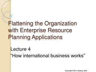 Flattening the Organization with Enterprise Resource Planning Applications