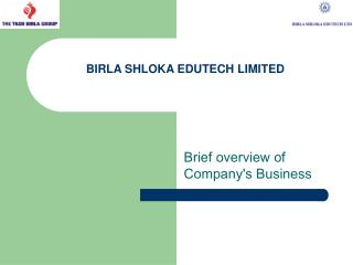 BIRLA SHLOKA EDUTECH LIMITED
