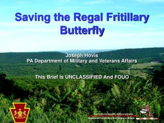 Saving the Regal Fritillary Butterfly