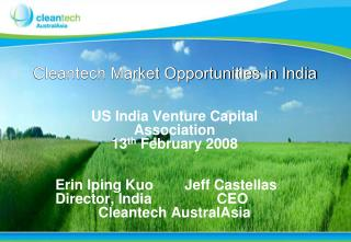 Cleantech  Market Opportunities in India
