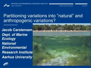 "Partitioning variations into ""natural"" and anthropogenic variations?"
