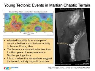 Young Tectonic Events in Martian Chaotic Terrain