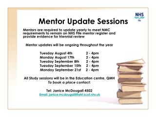 Mentor Update Sessions