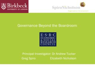 Governance Beyond the Boardroom
