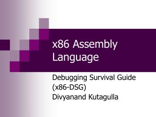 x86 Assembly Language