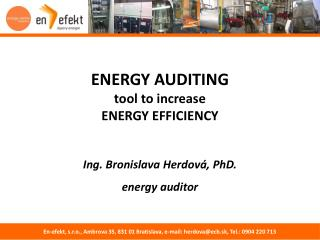 ENERGY AUDITING tool  to  increase ENER GY EFFICIENCY