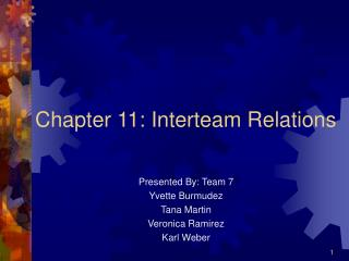 Chapter 11: Interteam Relations