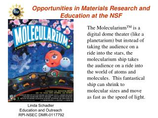 Opportunities in Materials Research and Education at the NSF