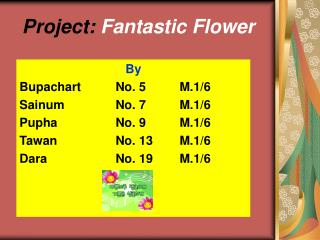 Project: Fantastic Flower