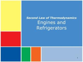 Second Law of Thermodynamics Engines and Refrigerators