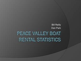 Peace Valley Boat Rental Statistics