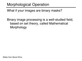 Morphological Operation