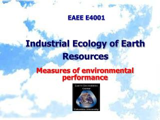 Industrial Ecology of Earth Resources