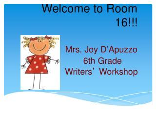 Welcome to Room  16!!!