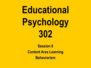 Educational Psychology 302