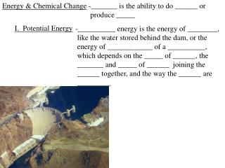 Energy & Chemical Change