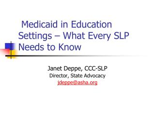Medicaid in Education Settings – What Every SLP Needs to Know
