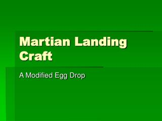 Martian Landing Craft