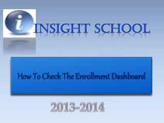 How To Check The Enrollment Dashboard