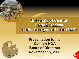 University of Central  Florida Stadium  Traffic Management Plan (TMP)