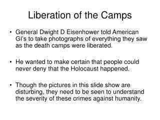 Liberation of the Camps