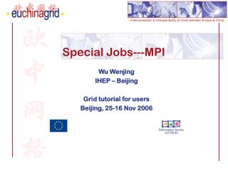 Special Jobs---MPI