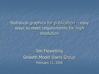 Statistical graphics for publication – easy ways to meet requirements for high resolution