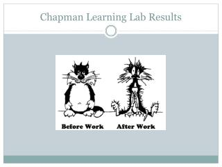 Chapman Learning Lab Results