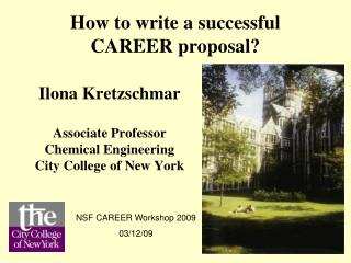 How to write a successful CAREER proposal?