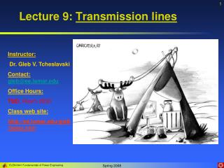 Lecture 9:  Transmission lines
