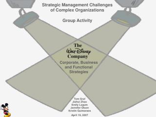 Strategic Management Challenges  of Complex Organizations Group Activity
