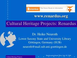 Cultural Heritage Projects: Renardus