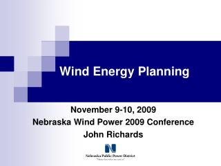 Wind Energy Planning