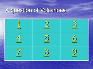 A question of Volcanoes