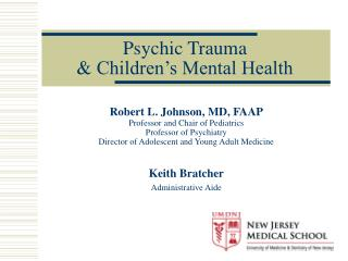 Psychic Trauma & Children's Mental Health