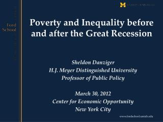 Poverty and Inequality before and after the Great Recession