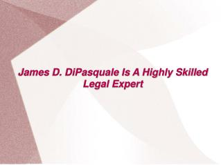 James DiPasquale Is A Highly Skilled Legal Expert