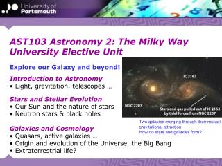 AST103 Astronomy 2: The Milky Way University Elective Unit