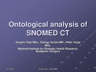 Ontological analysis of SNOMED CT
